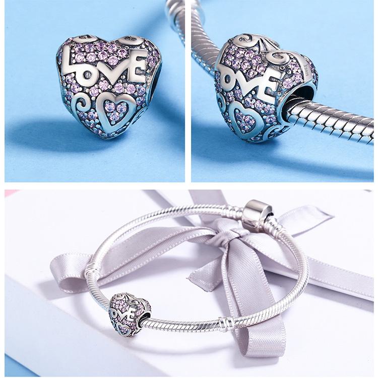 Charm din argint 925 - Love